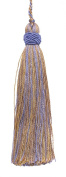 Set of 10 Decorative Lavender Blue, Taupe 10cm Tassel, Imperial II Collection Style# ITS Colour