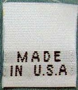 100 pcs WOVEN WHITE CLOTHING LABELS, MADE IN U.S.A.