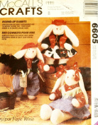 McCalls 6605 Round Up Rabbits and Stick Horse Sewing Pattern, Western Cowboy Cowgirl