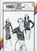 Stretch & Sew Pattern 1565 ~ Ladies' Shawl Collar Dress & Blouse
