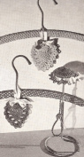 Vintage Crochet PATTERN to make - Heart Sachet Pincushion or Hanger Cover. NOT a finished item. This is a pattern and/or instructions to make the item only.