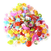 2013newestseller 200pcs Cute Buttons Backhole Scrapbooking Sewing DIY Craft