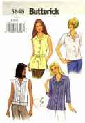 Butterick 3848 Sewing Pattern Misses Top and Belt Size 8 - 10 - 12