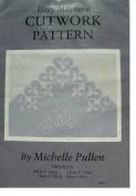 EASY MACHINE CUTWORK PATTERN BY MICHELLE PULLEN CP14 HEARTS AND VINE TWO SIZES