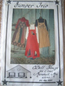 JUMPER TRIO IN SIZES 6-8-10-12-14-16-18 - ALL SIZES INCLUDED - SEWING PATTERN BY O'DELL HOUSE - FULL INSTRUCTIONS