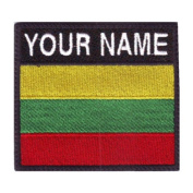 Lithuania Custom Badge Flag Name Embroidered Sew On Patch