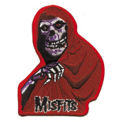The Misfits Red Fiend Skull Embroidered Patch
