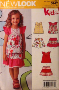 New Look Sewing Pattern 0147 Child Top and Skirt, Size A
