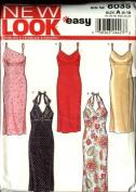 New Look Sewing Pattern 6035 Size 8-18 Misses Halter Summer Dresses Sundress
