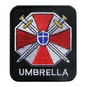 Resident Evil Umbrella Corporation Gestickte Patches 6.5x7.5 Cm Sew/iron on Patch to Cloth, Jacket, Jean, Cap, T-shirt and Etc.