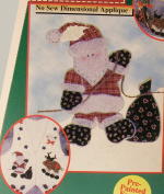 Santa With Toys Cosy Cut-Outs No Sew Dimensional Appliques Craft Kit