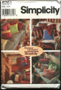 Simplicity Crafts 8261 Pillow Cushions Patchwork