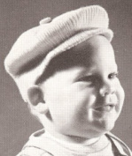 Vintage Knitting PATTERN to make - Baby Boy Visor Cap Hat. NOT a finished item. This is a pattern and/or instructions to make the item only.