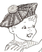 Vintage Knitting PATTERN to make - Knitted Boys or Girls Toddler Size 2 Child Tam Hat Beret. NOT a finished item. This is a pattern and/or instructions to make the item only.