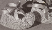 Vintage Knitting PATTERN to make - Pointed Toe Baby Booties Shoes Elf. NOT a finished item. This is a pattern and/or instructions to make the item only.