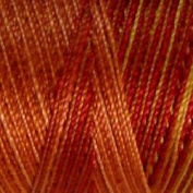 Valdani Multi-Colour Thread ~ Rust ~ Burnt Orange ~ Brown Variegated Quilting Thread 50wt (40wt U.S.) 100% Cotton~ 575yd ~ Autumn ~ M37