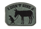 """Mil-Spec Monkey """"I Don't Give A Rat's Ass hook and loop Patch - ACU Dark"""