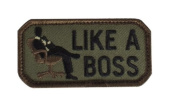 """Mil-Spec Monkey """"Like A Boss hook and loop Patch - Forest"""