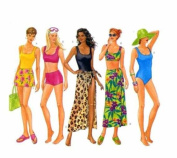 Butterick Swimsuit & Cover up Sewing Patten #5551 Sizes