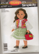 Doll Clothes Pattern New 46cm Doll Dress Jacket Basket#e2107