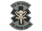 """Mil-Spec Monkey """"Do No Harm - Pirate hook and loop Patch - ACU"""