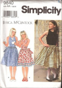 OOP/UNCUT SIMPLICITY 9840 GIRLS' DRESSES bY JESSICA McCLINTOCK sIZE