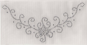 V Neckline Iron On Hot Fix Rhinestone Transfer -- Clear