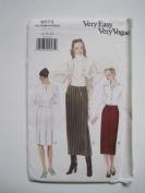 Vogue Pattern 9572 Misses' Skirt Sizes 14-16-18