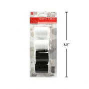 4 Pc Sewing Thread, 150yds(137m) 2 Black 2 White