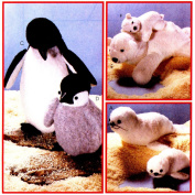 McCall's 8509 Crafts Sewing Pattern Mother & Babies Seal Penguin Polar Bear