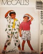 McCall's Sewing Pattern 6553 ~ Children's Shirt, T-Shirt, Shorts, Duffle Bag, & Hat
