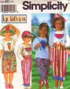 SIMPLICITY 8507 Litttle Girls' Tops with Appliques, Shorts & Pants, Hats, Headbands (size 5-6x) by k.p. kid's & co.