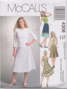 Misses Bias Skirts McCall's Sewing Pattern 4306 (Size CCD
