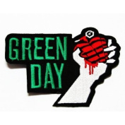 Green day rock music band Embroidered Iron On / Sew On Patch