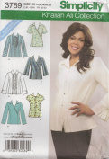 Simplicity Khaliah Ali Collection Pattern 3789. Misses Sizes 14;16;18;20;22 Shirts with Front & Sleeve Variations
