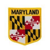 Eastern State Flag Embroidered Patch Shield - Maryland W03S15A