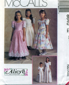 McCall's Girls Formal Flower Girl Sewing Pattern # 8640