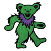 Grateful Dead Garcia Patch - 8.9cm Green Dancing Bear