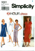 Simplicity 9681 Sewing Pattern Misses 2 Hour Pullover Dresses Size 12 - 16 - Bust 34 - 38