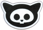 Skelanimals - Kitty Head - Iron on or Sew on Embroidered Patch