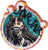 Star Wars - Jar Jar - Iron on or Sew on Embroidered Patch