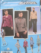 SIMPLICITY PATTERN 2810 PROJECT RUNWAY MISSES' LINED JACKETS WITH FRONT AND COLLAR VARIATIONS SIZE D5 4-12