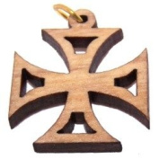 Pattée Olive wood Cross Laser Pendant