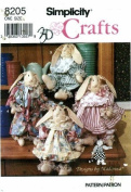 Simplicity 8205 Crafts Sewing Pattern Decorative Rabbit & Clothes