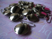 25 Pacifier/suspender Clips Lead Free Round 1.9cm or 2.5cm Round