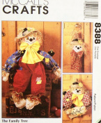 McCall's 8388 Crafts Sewing Pattern Scarecrow Doll Wreath Wall Hanging