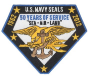 50 Year Anniversary US NAVY SEAL Patch - Naval Special Warfare Groups - BUDS