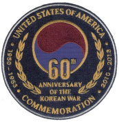 """60 Year Anniversary Korean War embroidered patch (1953-2013) """"Land of the Morning Calm"""""""
