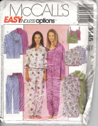 Misses miss petite nightshirt, tops, camisole and pull on pants sizes lg-xl (16-18-20-22) easy endless options mccalls pattern 3445