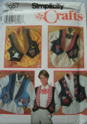 MISSES VEST WITH jewellery & APPLIQUE SIZES 12-14-16 SIMPLICITY CRAFT PATTERN 9657